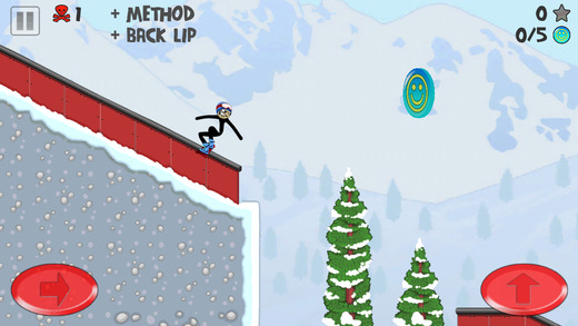 Stickman Snowboarder screenshot
