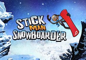 Stickman Snowboarder